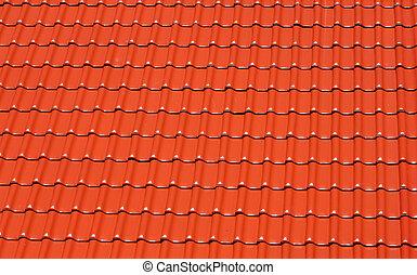 屋根ふきのタイル, 作られた, 明るい, 背景, 赤
