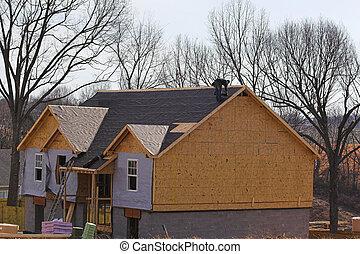 屋根職人, 上に, 新しい家