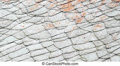 屋根, 古い, 奇妙である, rooftiles