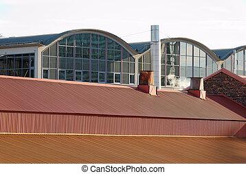 屋根, 工場