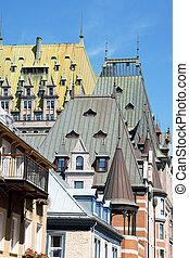 屋根, 都市, ケベック