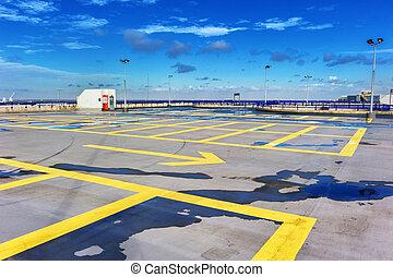 屋根, 駐車