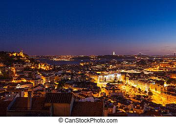 屋根, (m, 光景, senhora, monte, 航空写真, リスボン, 観点