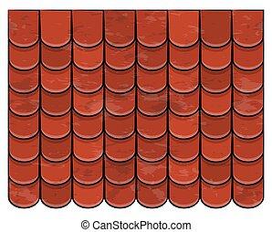 屋頂, 瓦片, 結構, 美麗, 旗幟, 牆紙, 設計, 插圖