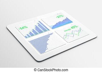 屏幕, buusiness, 圖表, 片劑, 數字