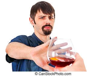 屑, アルコール, 人