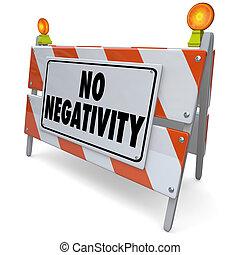 展望, いいえ, ポジティブ, 印, 態度, 建設, 道, 否定性