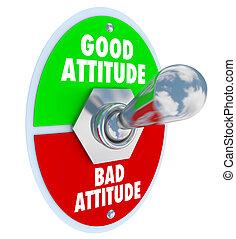 展望, よい, ポジティブ, ひどく, トグルスイッチ, ∥対∥, 選びなさい, 態度