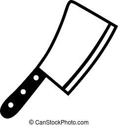 屠夫刀, 切肉大菜刀