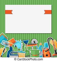 屠夫, flayers, 做广告, 形象, 是, 打扫, icons., 能, booklets, 旗帜, 背景, 文章, 持家, 媒介, 社会, 使用