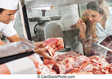 屠殺場, 女, 肉, 購入