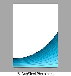 層, -, 効果, ベクトル, デザイン, テンプレート, ブランク, 文房具, 曲がった, 影, ページ