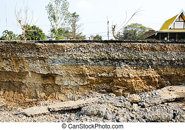 層, 土壌