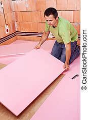 層, 床, 家, 卵を生む, 断熱材, 新しい