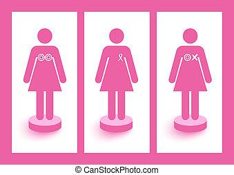 層, eps10, ファイル, がん, 認識, 組織化された, campaign., シンボル, editing., ベクトル, 数字, 胸, 容易である, リボン, 防止, 女性