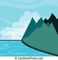 山が多い, 湖, 風景