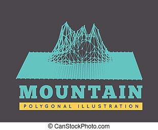 山の景色, イラスト