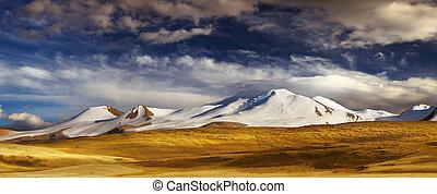 山の景色, プラトー, ukok