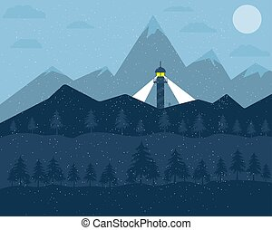 山の景色, 雪が多い