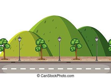 山の道, 自然