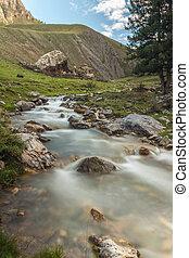 山の 流れ