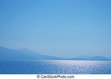 山地, 風景, 海