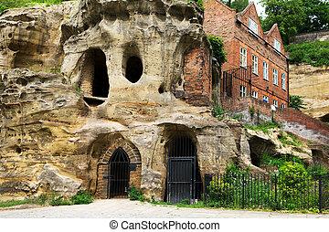 山洞, 在, 诺丁汉, 英国