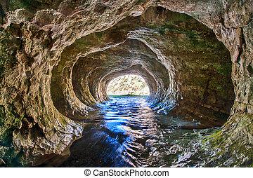 山洞, 溪