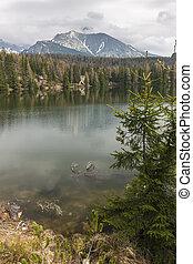 山湖, 中に, スロバキア, tatra