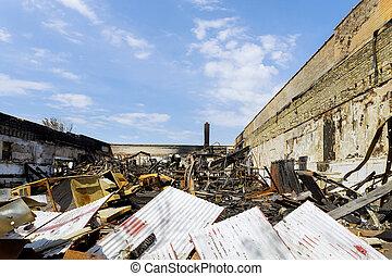 山火事, 家, カリフォルニア, 破壊された, 爆発される, 南, 燃えた