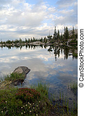 山脈 ネバダ, 湖の反射