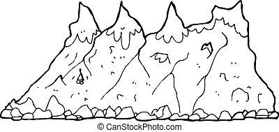 山脈, 卡通