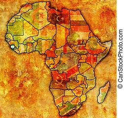 山脈, 地圖, 實際, 利昂, 非洲