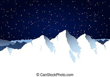 山脈, 背景, 多雪
