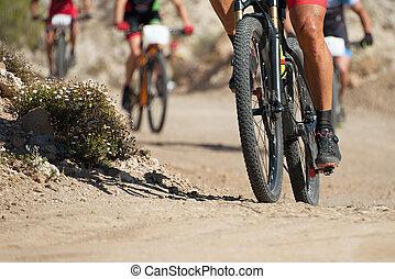 山自転車, 競争