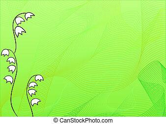 山谷, 百合花, 背景