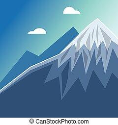 山達到最高峰, 雪