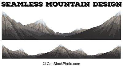 山達到最高峰, 雪, seamless
