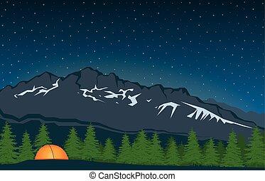 山達到最高峰, 風景