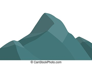 山達到最高峰, silhouette.