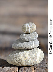 山, の, 小石, 石