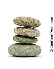 山, の, 小石, 隔離された, 上に, ∥, 白