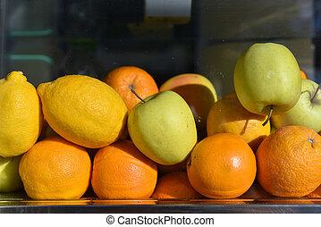 山, の, 新鮮な果物, ∥ために∥, ジュース