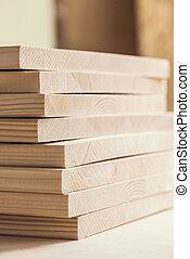 山, の, 木製板