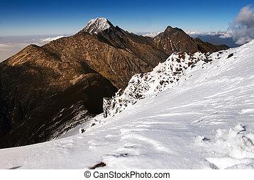 山, ひすい, 雪