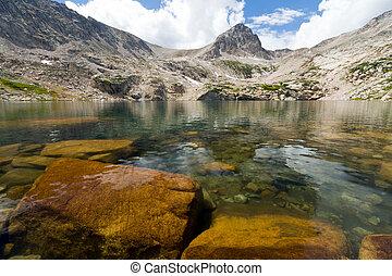 山, ゆとり, 湖, 風景