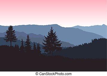 山, イメージ, 風景