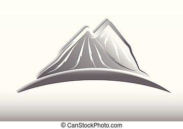 山, デザイン, ロゴ