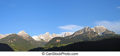 山, パノラマ, oberland, 国, スイス