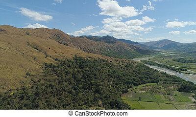 山, フィリピン。, 島, 谷, luzon, 風景